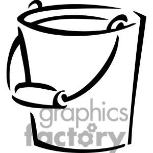 Sand Bucket Clipart Black And White.