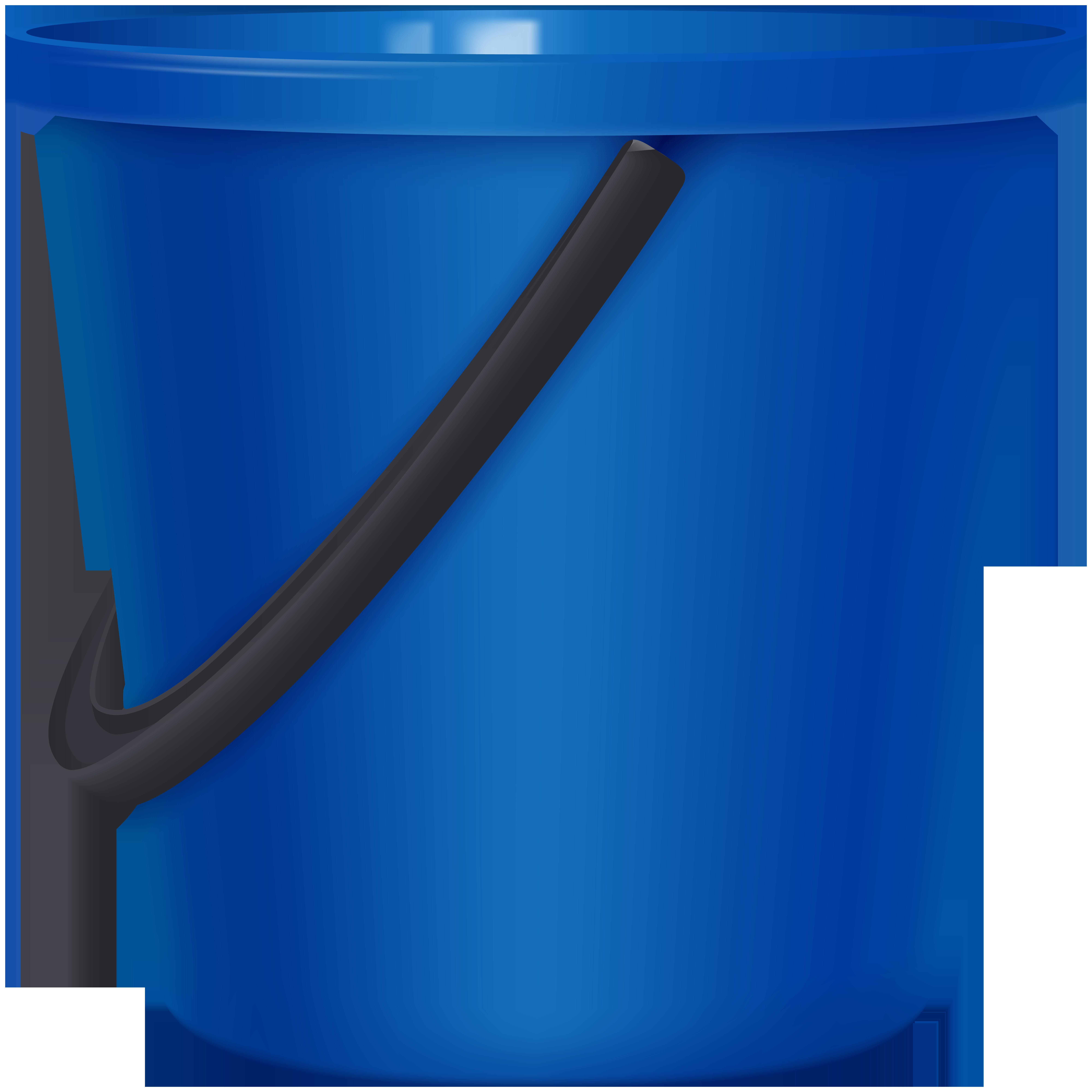 Blue Bucket PNG Clip Art.