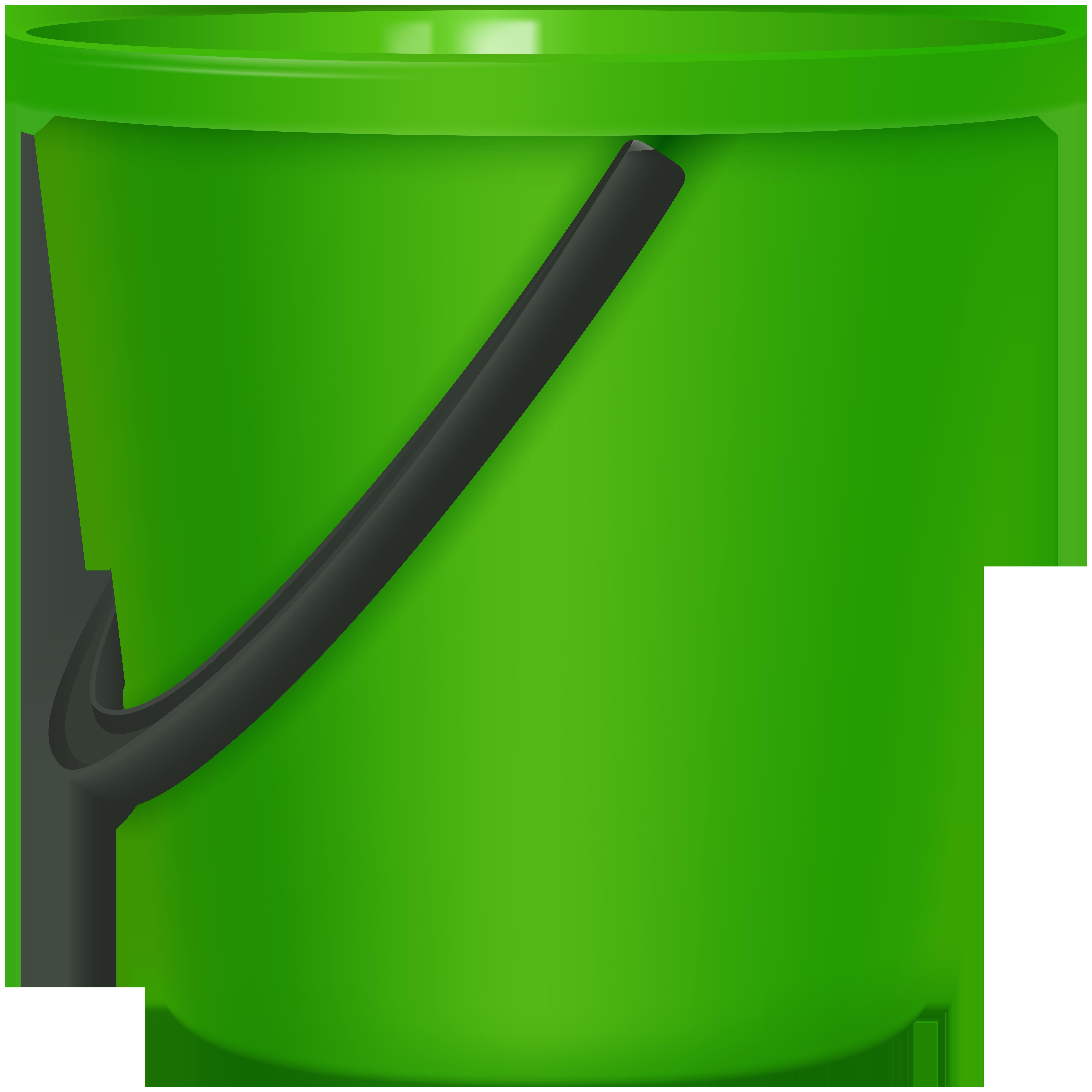 Green Bucket PNG Clip Art.