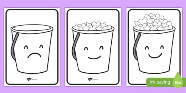 Have You Filled a Bucket Today Buckets (A4, Black & White.