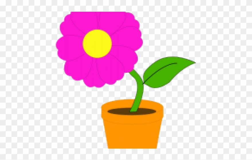 Pot Plant Clipart Bucket Flower.