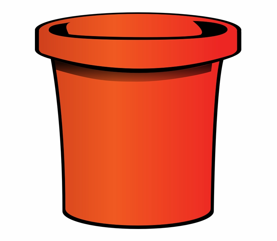 Pail Bucket Orange.