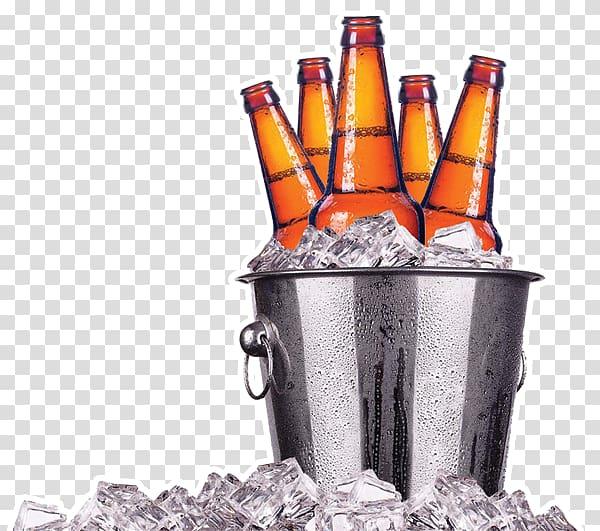 Of liquor bottle in bucket, Ice beer Bottle, beer.
