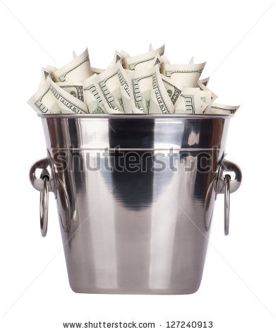 Buckets Of Money Stock Images, Royalty.