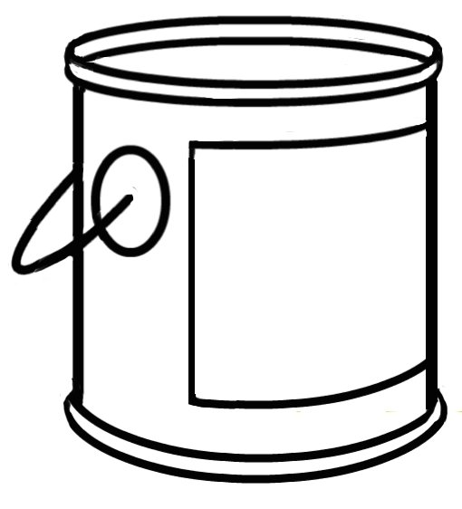 Paint Bucket Clipart Black And White.