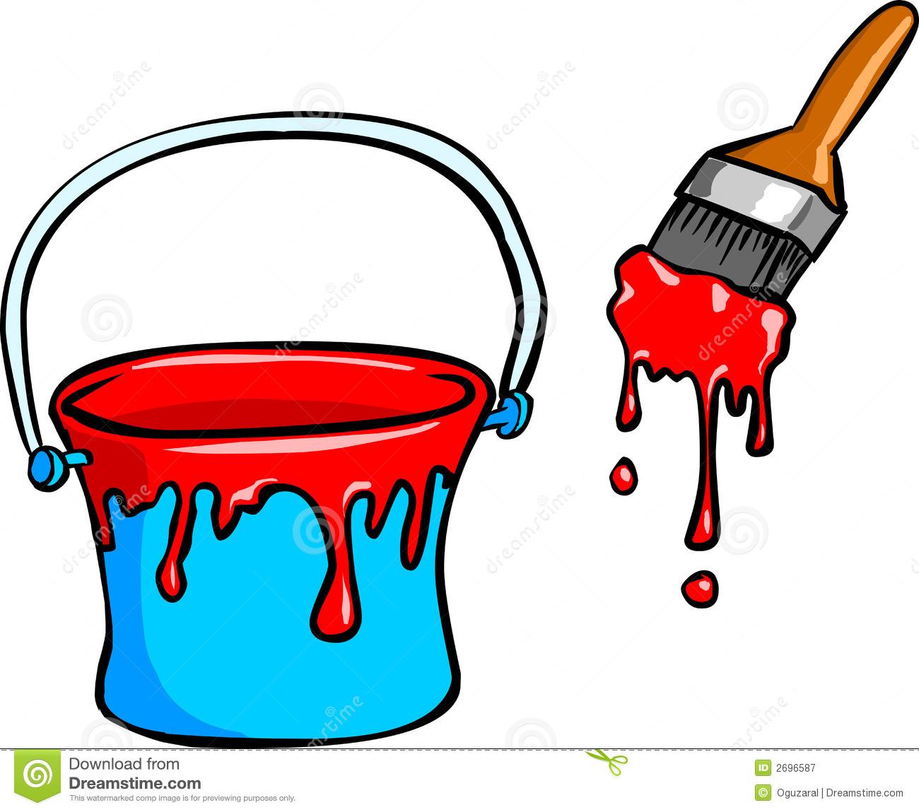 Paint Bucket Clip Art Black.