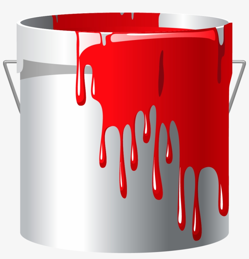 Red Paint Bucket Png.