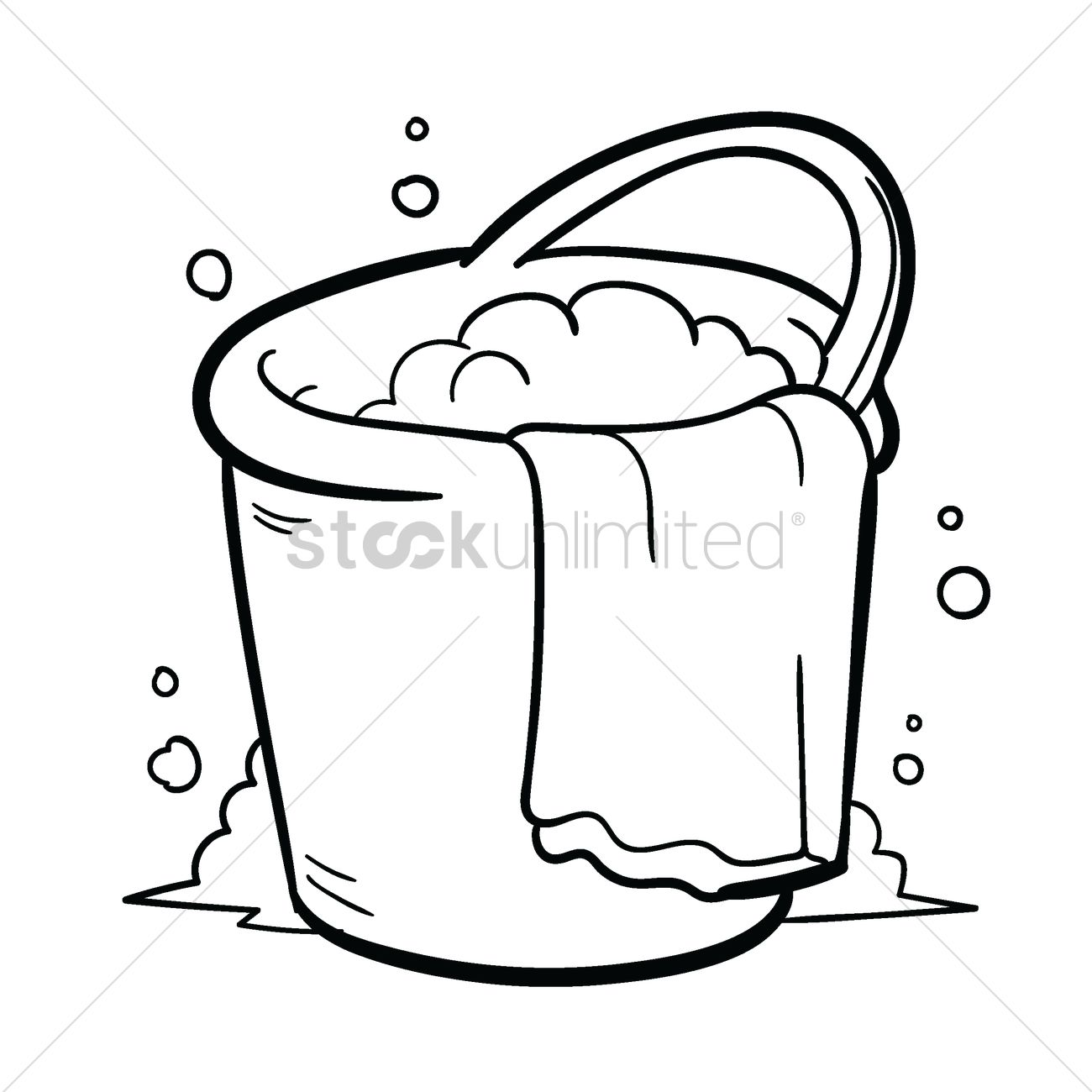 Water Bucket Clipart Black And White.
