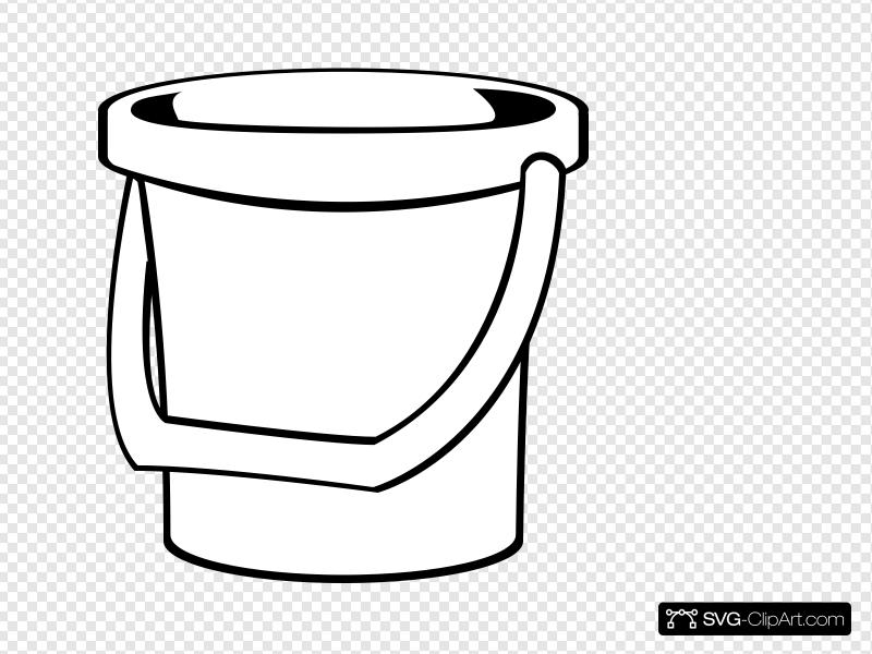 White Bucket 1 Clip art, Icon and SVG.