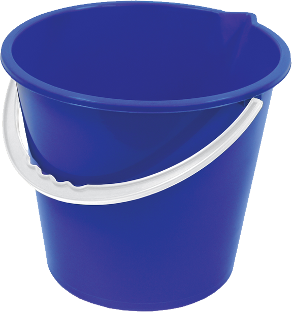 Download Blue PLastic Bucket PNG Image for Free.