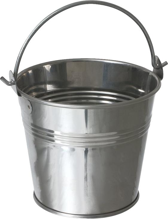 Steel Bucket PNG Image.