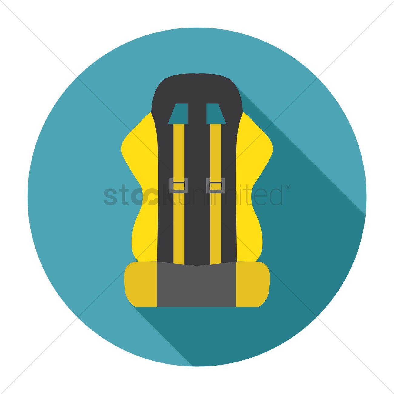 Bucket seat Vector Image.