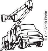 Free Bucket Truck Clipart.