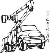 Free Bucket Truck Clipart.