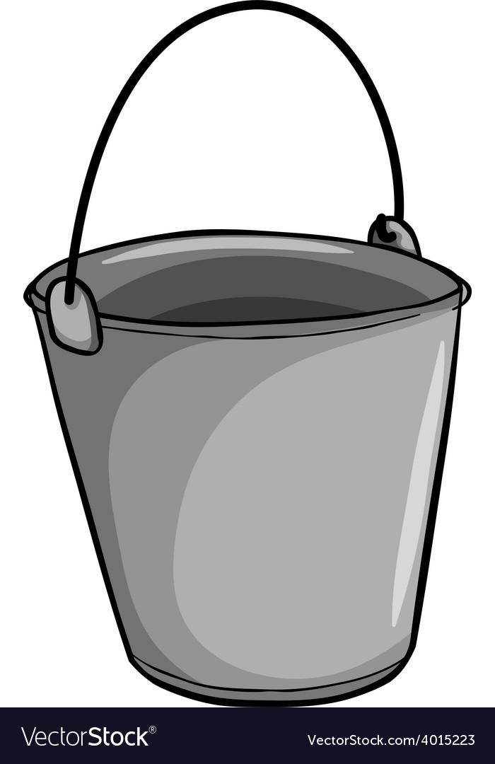 Small grey bucket.