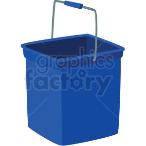 blue bucket vector clipart . Royalty.