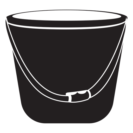 Firefighter bucket icon.