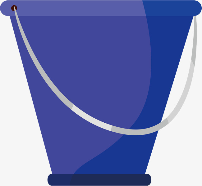 Bucket Png Vector Element, Bucket Vector, Blue, Container PNG and.