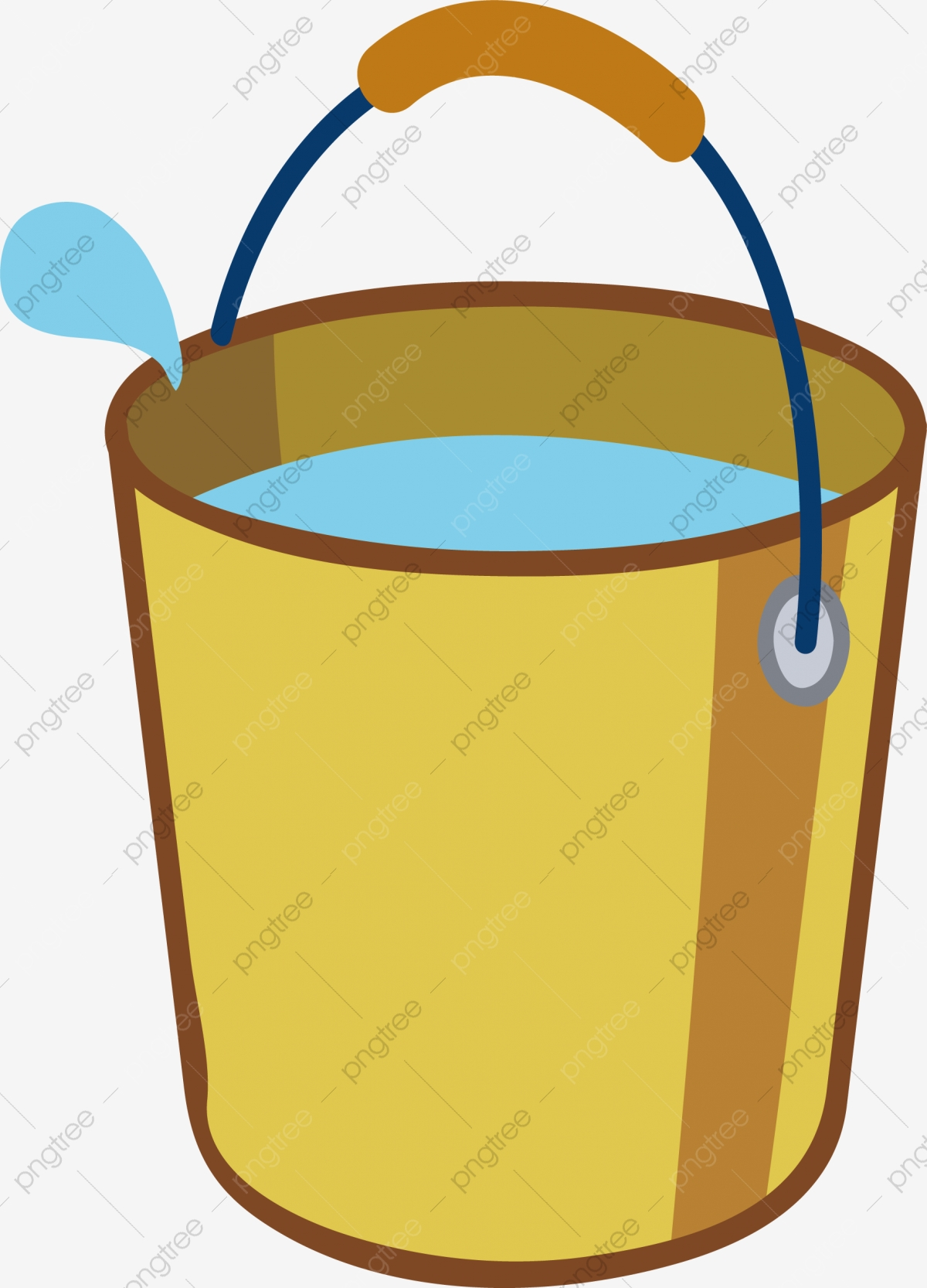 Bucket Png Vector Element, Bucket Vector, Water, Cartoon PNG and.