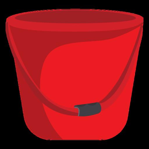 Firefighter bucket illustration.