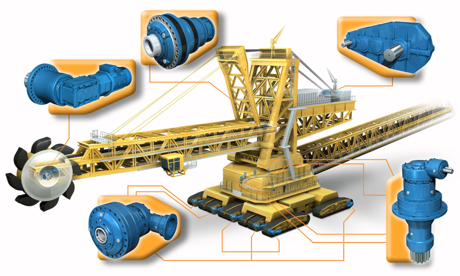 Solutions for Bucket Wheel Excavators.