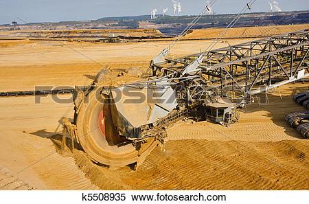 Stock Image of Giant bucket wheel excavator k5508935.