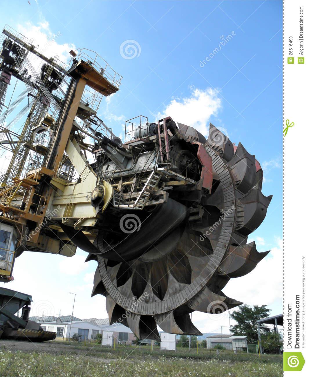 Bucket Wheel Excavator Royalty Free Stock Images.