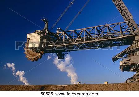 Stock Image of Bucket wheel excavator at opencast mine, Garzweiler.