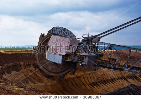 Giant Wheel Bucket Wheel Excavator Coal Stock Photo 57607150.