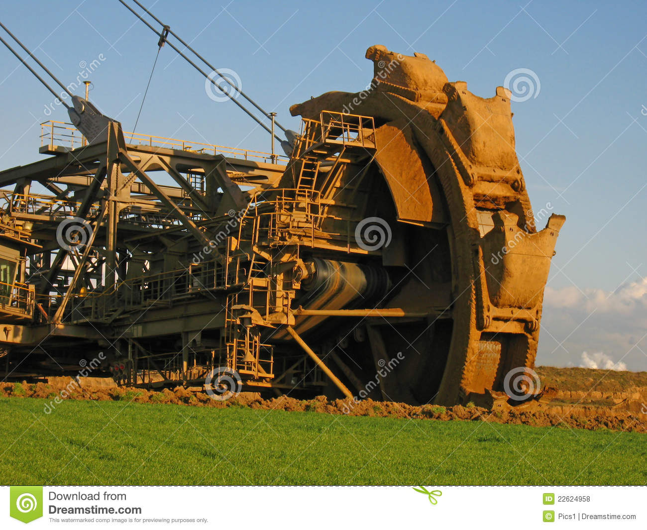 Bucket Wheel Excavator Royalty Free Stock Photos.