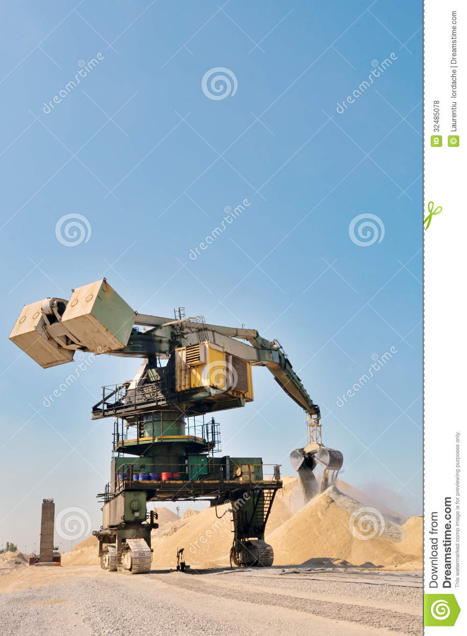 Giant Bucket Wheel Excavator Royalty Free Stock Photos.