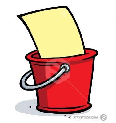 Bucket List Clipart.