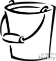 Bucket Clip Art Image.