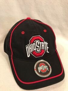 Details about BUCKEYE LOGO Ohio State OSU Black / Red Baseball Hat Cap  Embroidered.