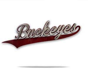 Ohio State University Buckeyes Logo 3D Metal Artwork.