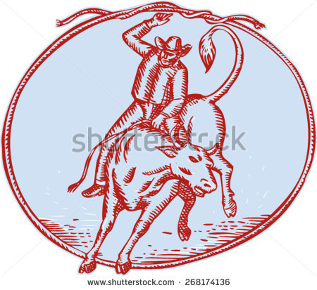 Bucking Bull Stock Images, Royalty.
