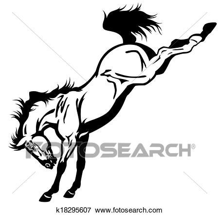 Bucking horse Clip Art.