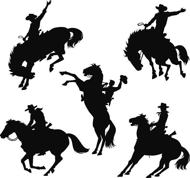 Best Bucking Horse Illustrations, Royalty.