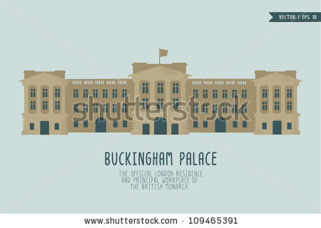 Buckingham Palace Stock Vector 109465391.