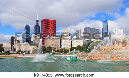 Stock Image of Chicago Buckingham fountain k9174355.