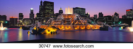 Picture of Buckingham Fountain Chicago IL 30747.