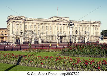 Stock Photo of Buckingham Palace ( outside Buckingham Palace.