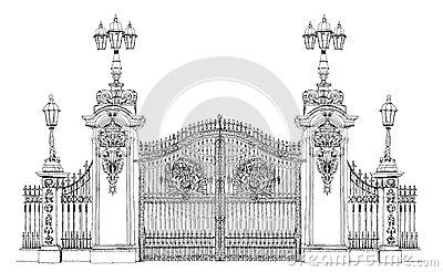 Buckingham Palace Gate Royalty Free Stock Images.