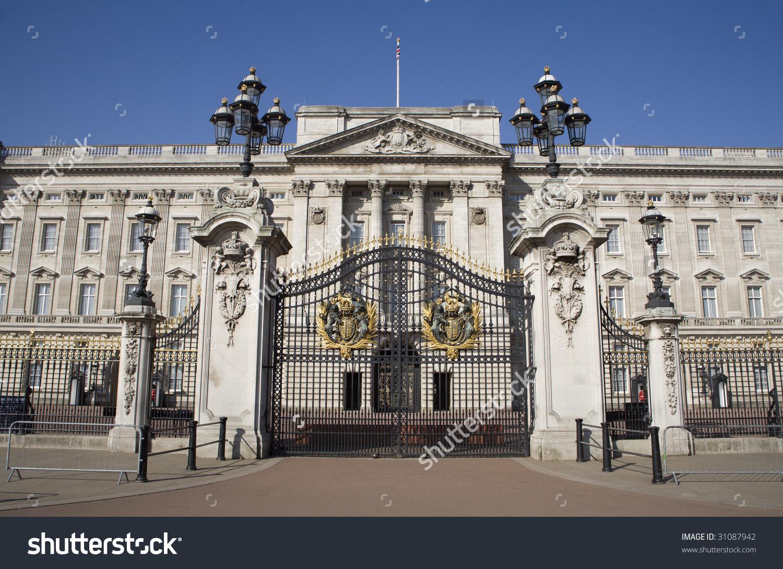 London Buckingham Palace Gate Stock Photo 31087942.