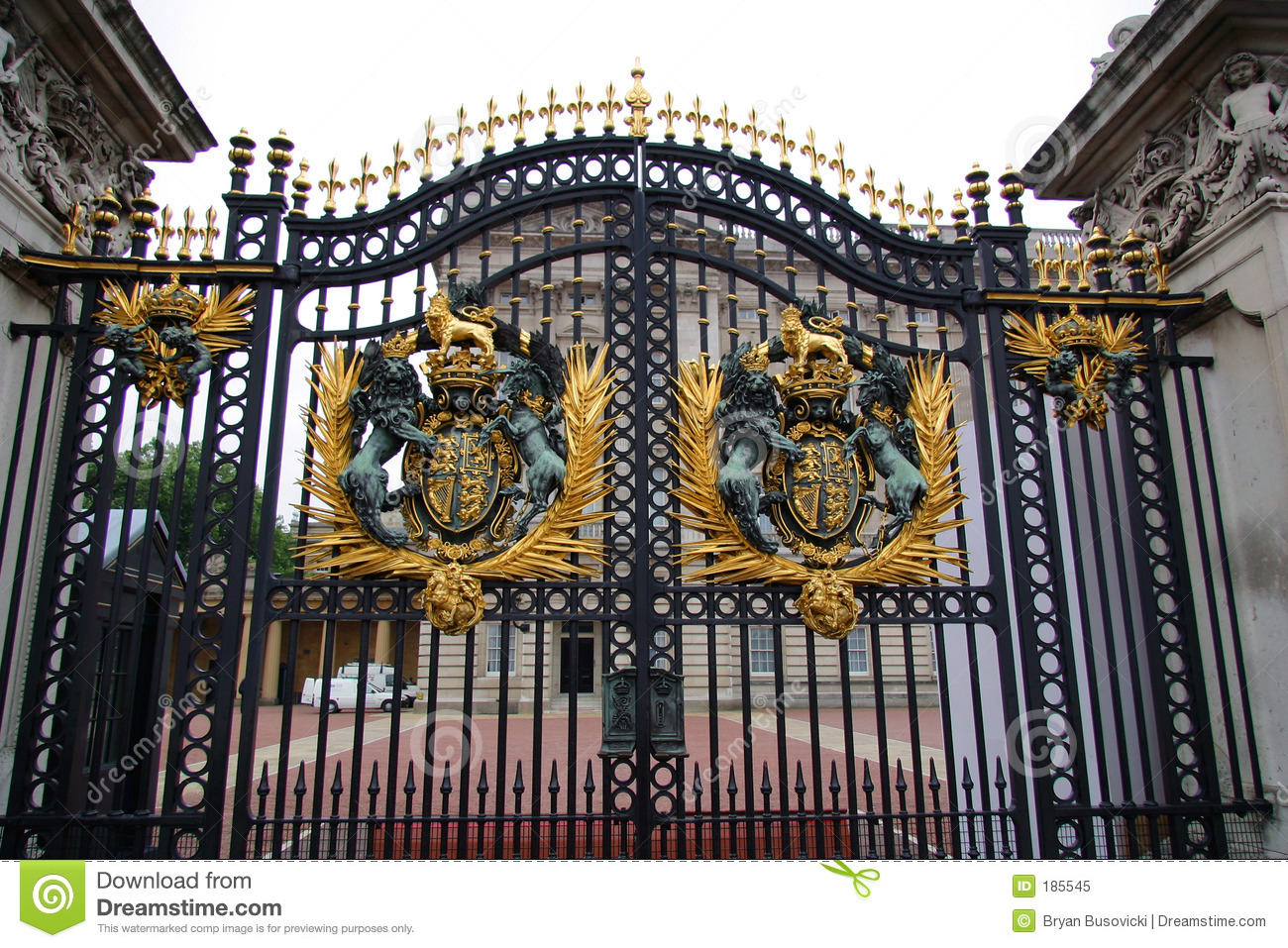 Buckingham Palace Gate Royalty Free Stock Photo.