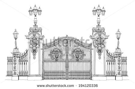 Palace Gate Stock Photos, Royalty.