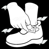 Buckle shoe clipart.
