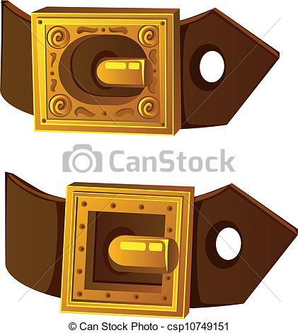 Belt Buckle Clipart.