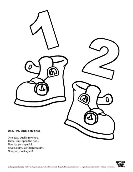 1 2 Buckle My Shoe Clipart.