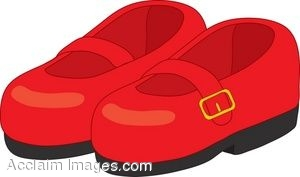 Buckle shoe clipart.